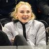 Sophie Turner, Laughing, Hockey Game