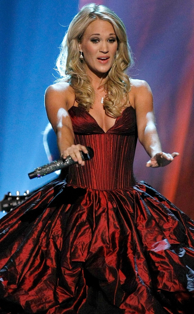 Carrie Underwood -  Thecountry superstar shines on stage as she performs. Little did she know that the  American Idol  winner would be a regular on the ACM Awards stage.