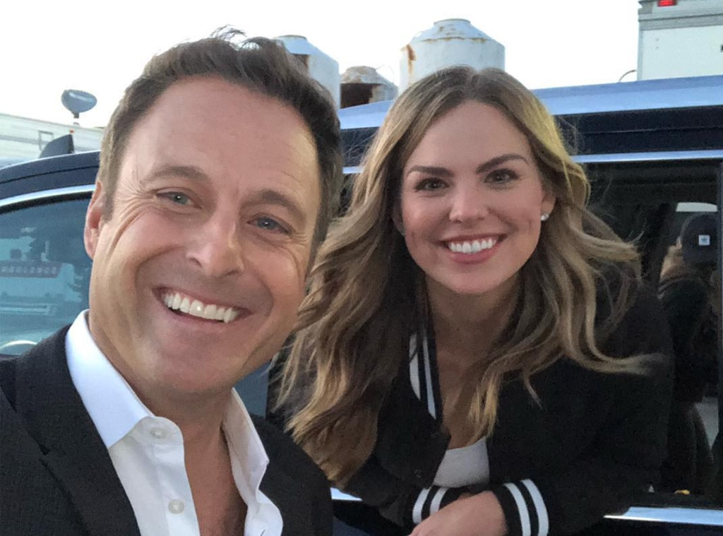 "Pre-Date Selfie -  ""So far it's all smiles,"" host  Chris Harrison  teases of Hannah's experience on  The Bachelorette ."