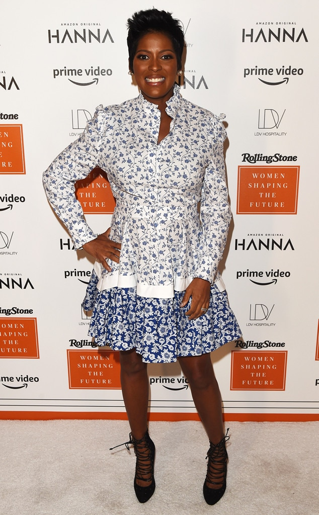 Scarpetta Restaurant -  At 34 weeks pregnant,  Tamron Hall is glowing while attending Rolling Stone 's Women Shaping the Future brunch.