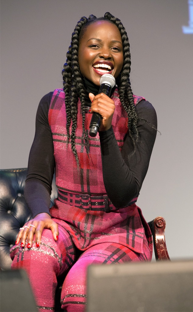 Lupita Nyong'o -  Lovely Lupita! The  Us  star looks radiant as she speaks at a screening of the new  horror flick  at Howard University in Washington, D.C.
