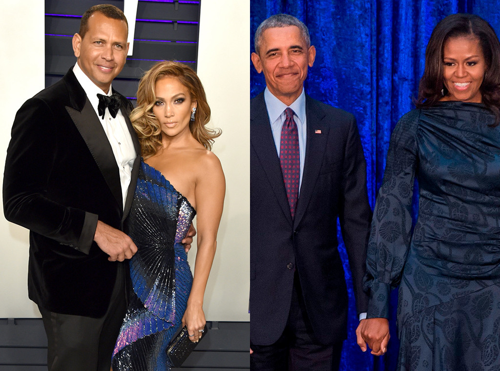Alex Rodriguez, Jennifer Lopez, Barack Obama, Michelle Obama