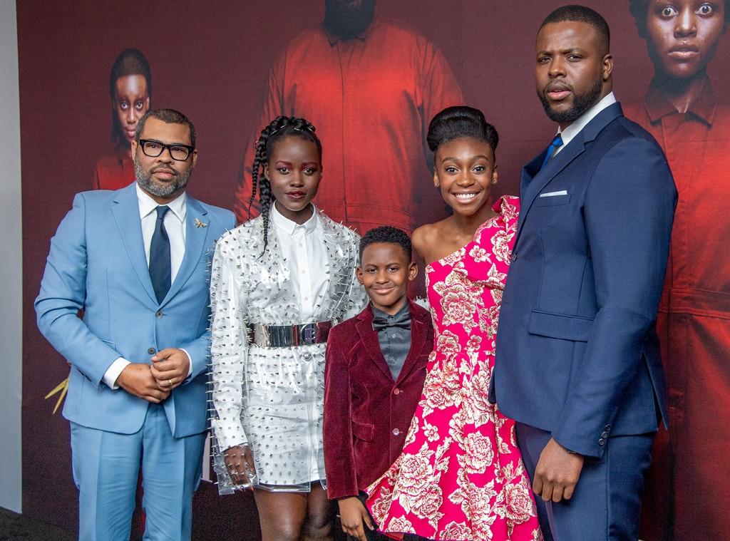 Jordan Peele, Lupita Nyong'o, Evan Alex, Shahadi Wright Joseph & Winston Duke -  The  Us  cast and director enjoy theNew York Premiere at Museum of Modern Art.