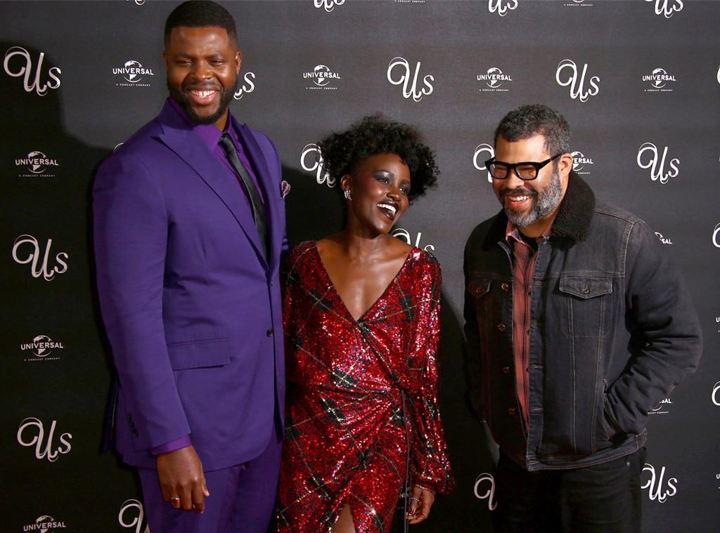 Winston Duke, Lupita Nyong'o & Jordan Peele -  The trio celebrate the  Us  film premiere while in London.