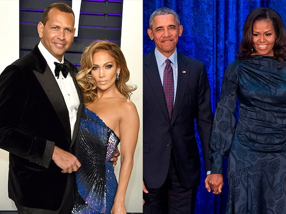 Barack and Michelle Obama Congratulate Jennifer Lopez and Alex Rodriguez on Their Engagement