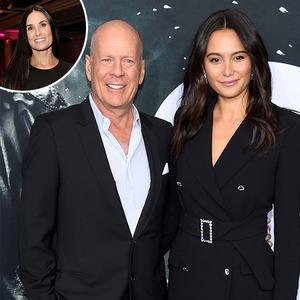 Bruce Willis, Emma Heming Willis, Demi Moore, Inset
