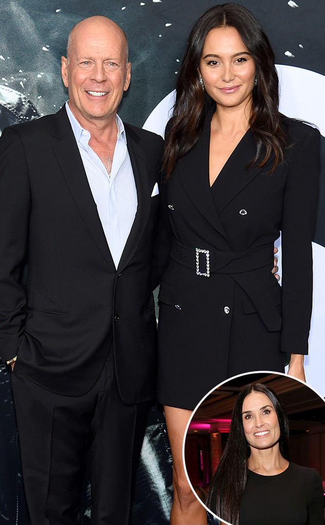 Bruce Willis, Emma Heming Willis, Demi Moore, Inset