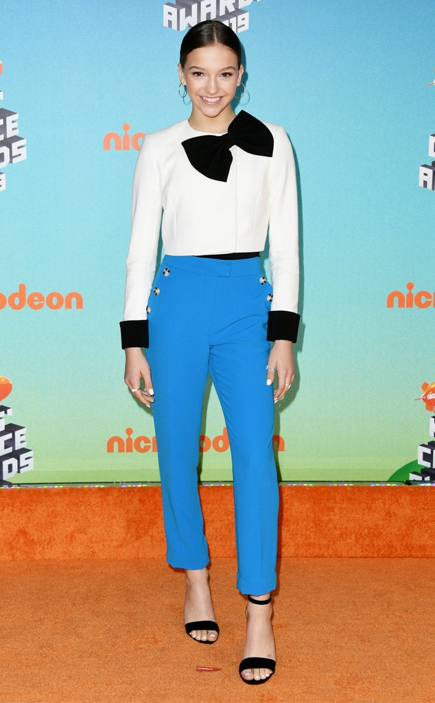 Jayden Bartels -  With more than 2.8 million followers on Instagram, this star's fandom is sure to geek out over her Kids' Choice Awards appearance.