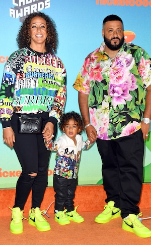 DJ Khaled, Nicole Tuck, Asahd Tuck Khaled, Nickelodeon 2019 Kids Choice Awards, Arrivals