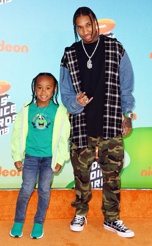 Tyga & King Cairo -  The rapper takes his 6-year-old son out for an evening he won't soon forget.