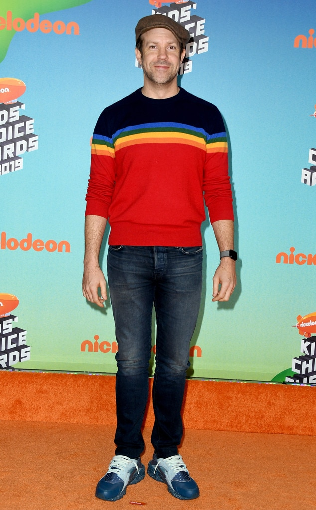Jason Sudeikis -  The 43-year-old actor and comedian adds flair and fun to the awards show with his colorful outfit.