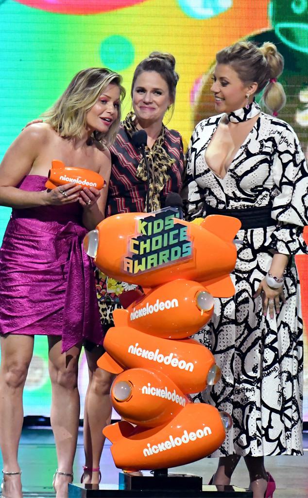 Candace Cameron Bure, Andrea Barber, Jodie Sweetin, Nickelodeon 2019 Kids' Choice Awards