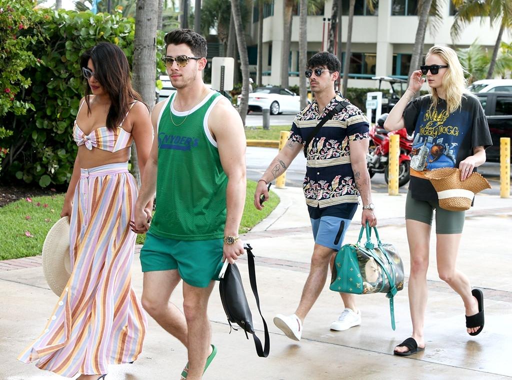 Nick Jonas, Joe Jonas, Priyanka Chopra, Sophie Turner