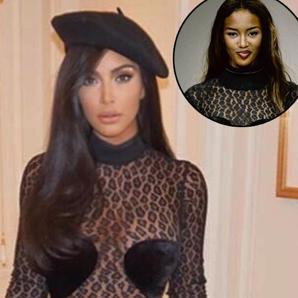 Kim Kardashian Shows Naomi Campbell Some Love After Copying Claims