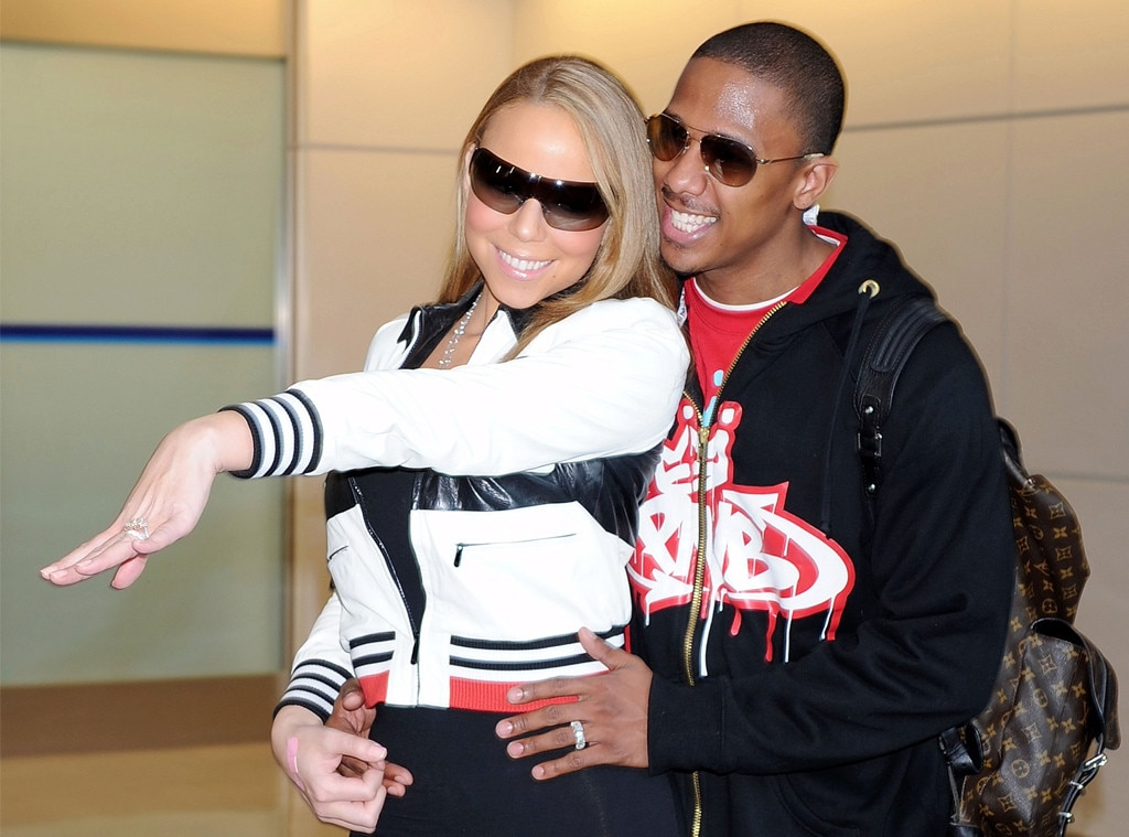 """-  12. After meeting comedian  Nick Cannon  on the set of her music video for """"Bye Bye"""" in 2008, she began dating the comedian. Within two months, they got married, tying the knot on April 30 in a secret ceremony in the Bahamas."""