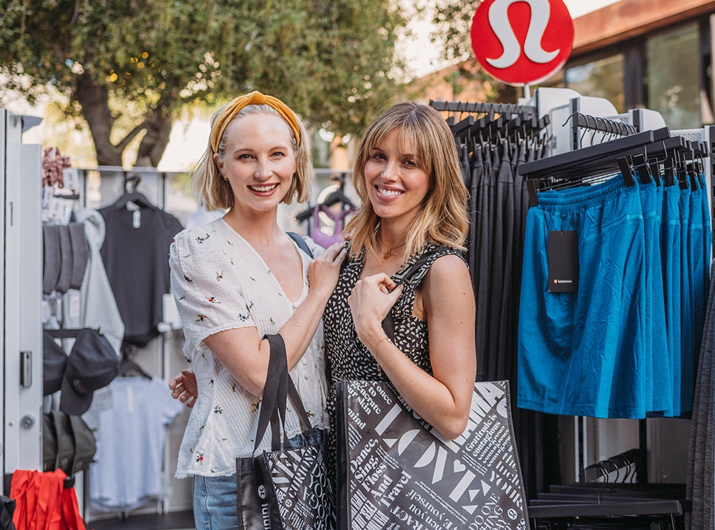 Candice Accola King & Kayla Ewell - The Vampire Diaries  stars do some shopping at the lululemon RCVR wellness event at Platform LA in Culver City.