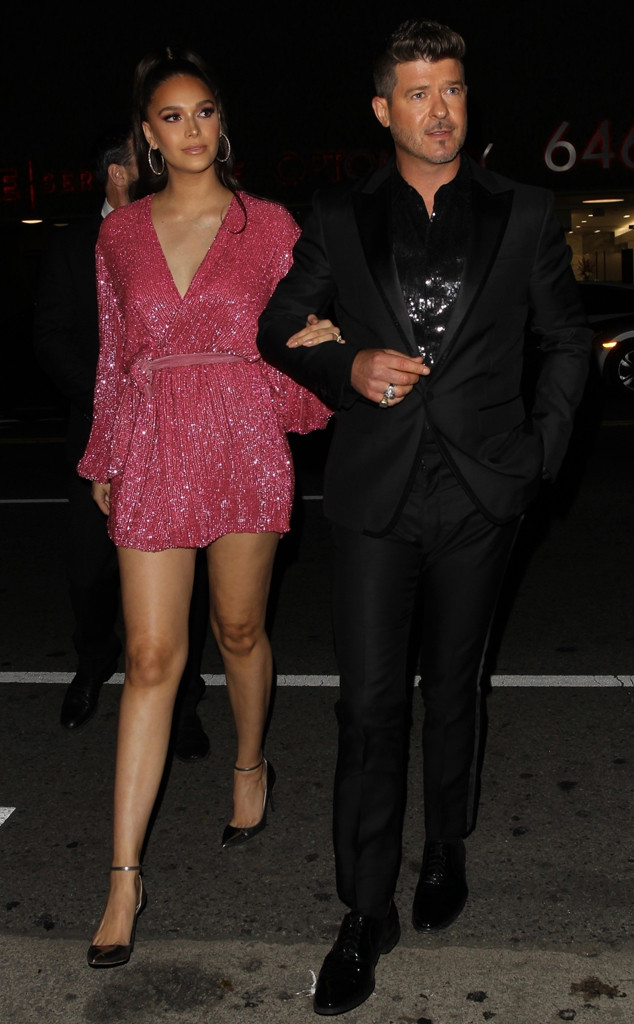 Robin Thicke, April Love Geary, Diana Ross' 75th Birthday Party
