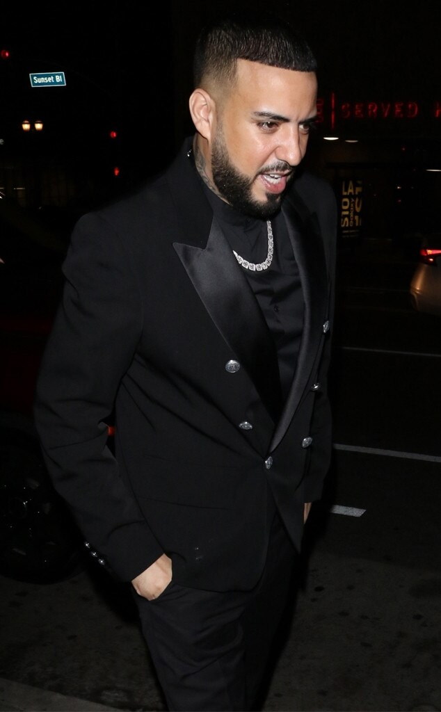 French Montana -  The rapper was chicly dressed in a double-breasted suit jacket.