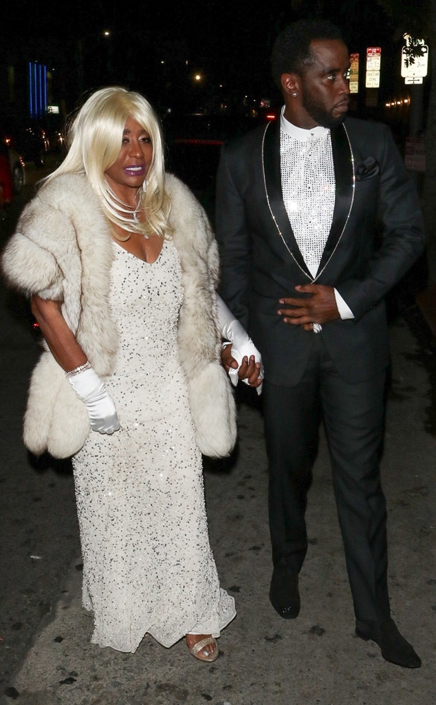 """Sean """"Diddy"""" Combs & Janice Combs -  The famed rapper escorted his glamorous mother into the party."""