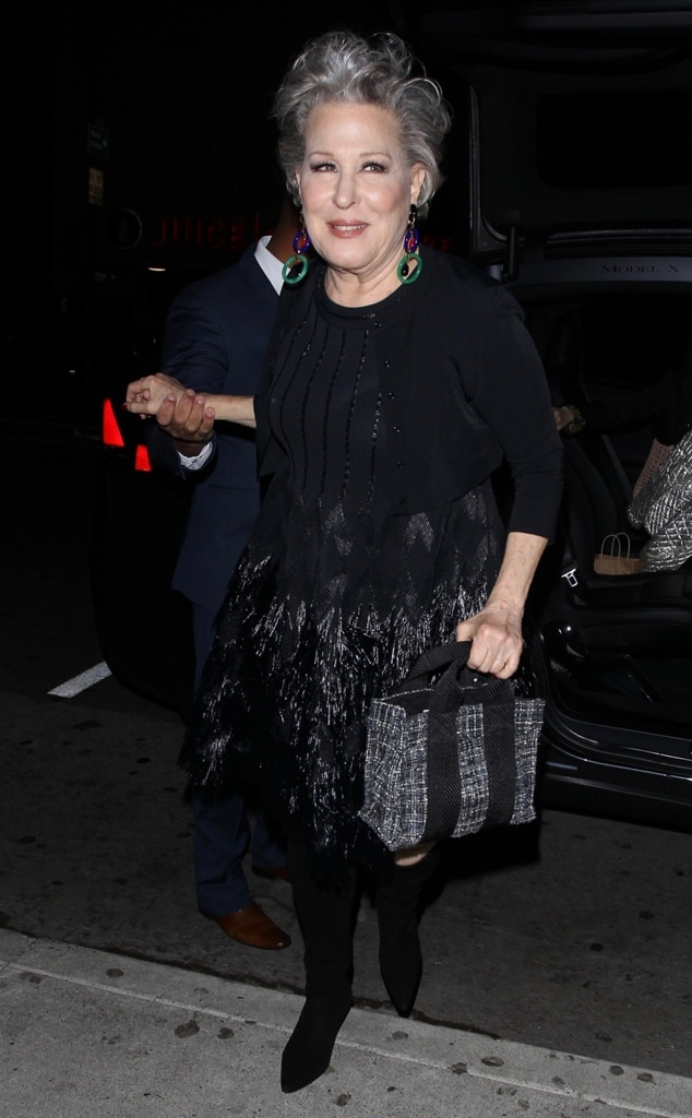 Bette Midler -  The iconic performer donned feathers for the special event.