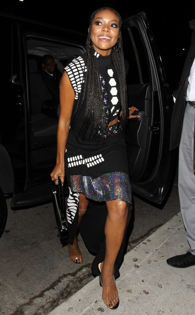 Gabrielle Union -  The actress made a sartorial splash as she stepped out for the big birthday party.