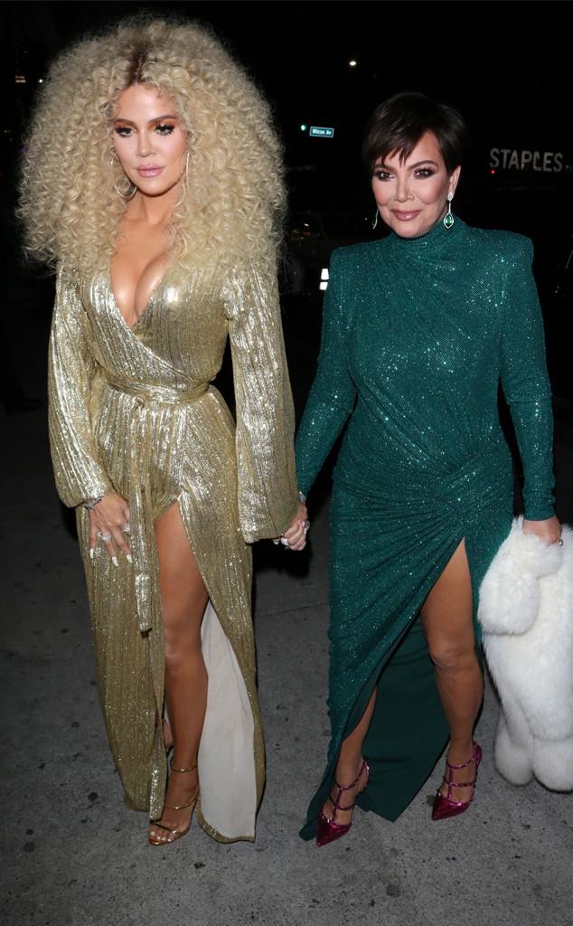 Kris Jenner, Khloe Kardashian, Diana Rosss 75th Birthday Party