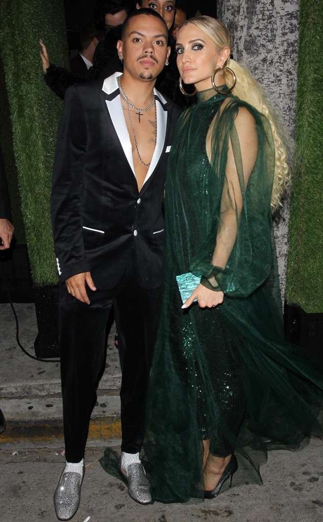 Evan Ross & Ashlee Simpson -  Diana Ross' son and his famous wife were among the most fashionable attendees.