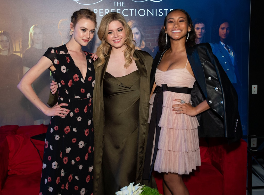 Hayley Erin, Sasha Pieterse & Sydney Park -  The  Pretty Little Liars: The Perfectionist  cast are all smiles duringthe second annual Freeform Summit in Los Angeles.