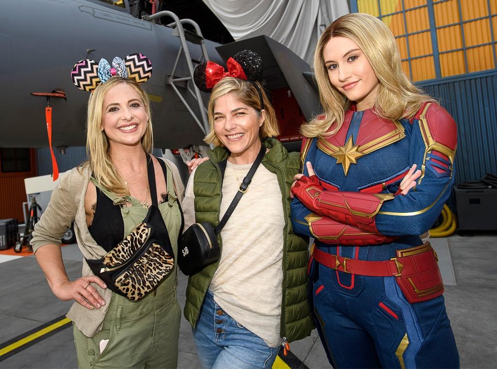 Sarah Michelle Gellar, Selma Blair, Disneyland, California Adventure