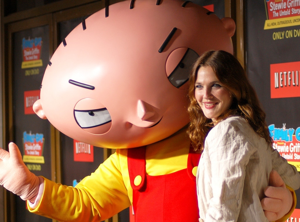 "Getting Animated -  If you've ever been watching an old  Family Guy  episode in syndication and thought to yourself, ""That character sounds an awful lot like Drew Barrymore,"" you were probably right. She made her debut on the show in 2005 as Mrs. Lockhart, returning in 2006 through 2013 for 11 episodes as Jillian, Brian's girlfriend."