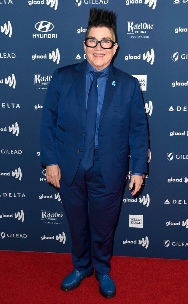 Lea DeLaria -  The  Orange Is the New Black  star looks sharp in this monochromatic ensemble.