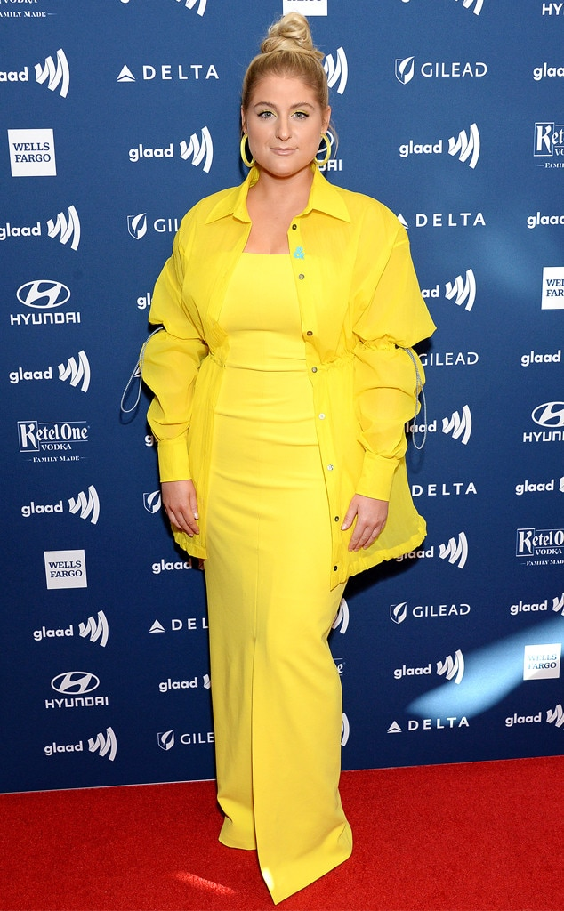 Meghan Trainor -  This pop star is all about that bass, and this modern yellow look!