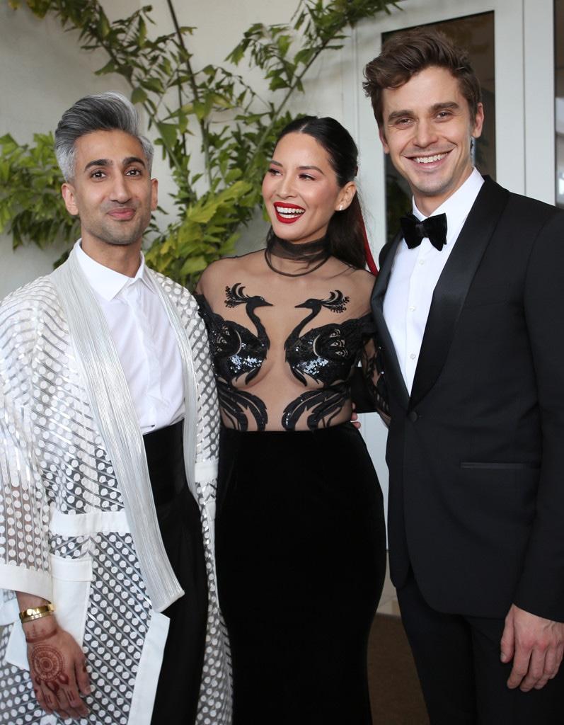 Tan France, Olivia Munn, Antoni Porowski, 2019 GLAAD Media Awards