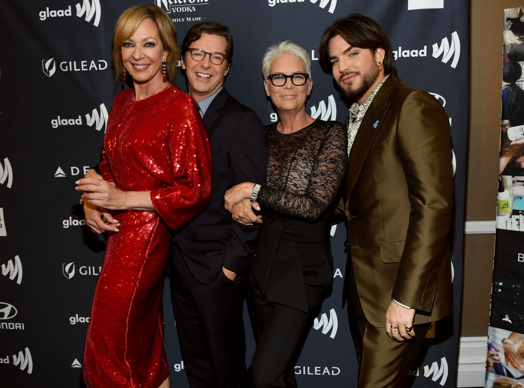 Allison Janney, Sean Hayes, Jamie Lee Curtis & Adam Lambert -  Party's here!