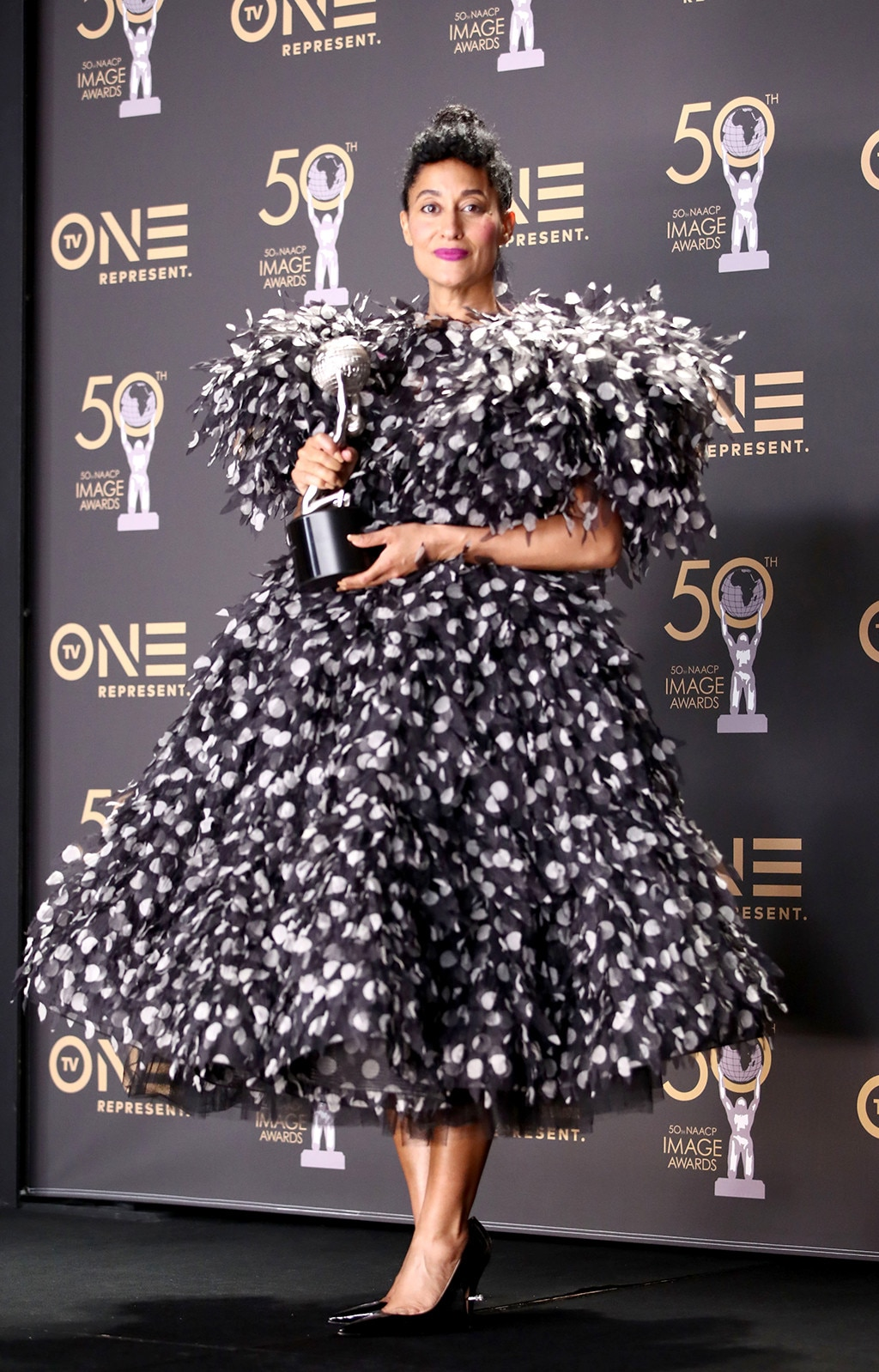 Winning look -  Tracee Ellis Ross, winner of Outstanding Actress in a Comedy Series, attends the 50th NAACP Image Awards at Dolby Theatre on March 30, 2019 in Hollywood, California.