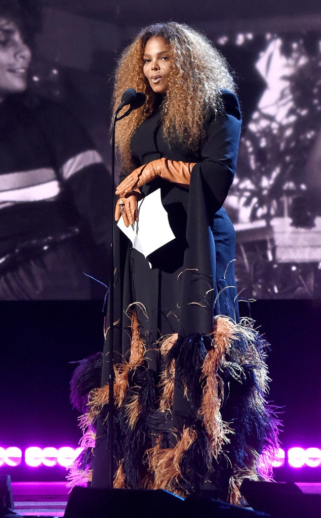 Janet Jackson -  The inductee speaks onstage duringher 2019 Rock & Roll Hall Of Fame Induction Ceremony in New York City.