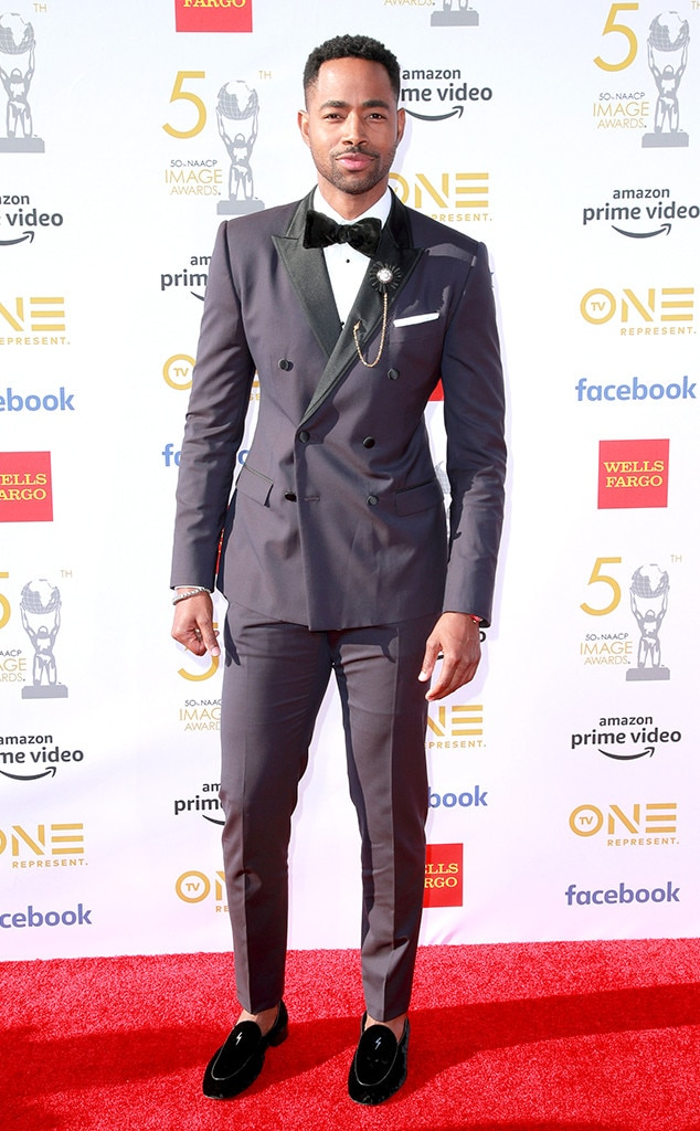 Jay Ellis -  The Insecure  star keeps it classy in a grey tux at the NAACP Image Awards.