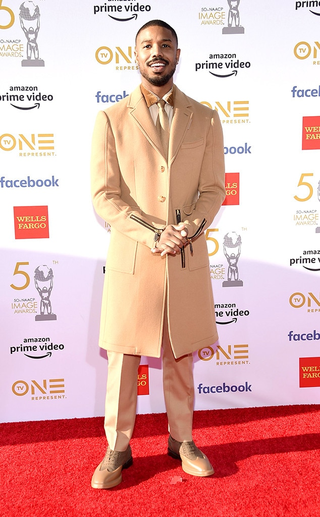 Michael B. Jordan -  Michael B. Jordan rocks beige-on-beige-on-beige at the show.