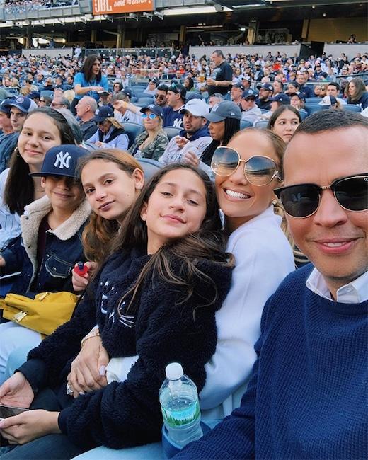 Jennifer Lopez, Alex Rodriguez, Kids, Yankee Stadium