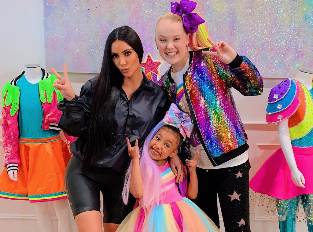 Kim Kardashian, North West, JoJo Siwa