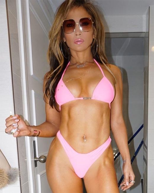 Jennifer Lopez, Bikini, Abs, Instagram