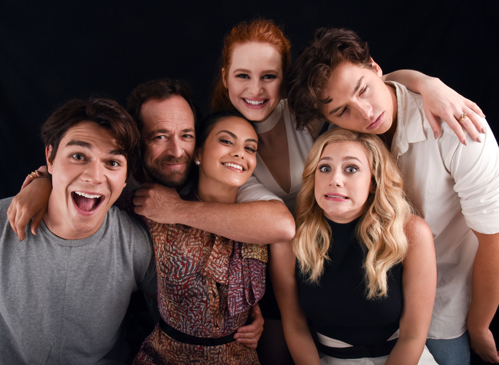 Luke Perry, K.J. Apa, Madelaine Petsch, Camila Mendes, Cole Sprouse, Lili Reinhart, Riverdale Press Photo