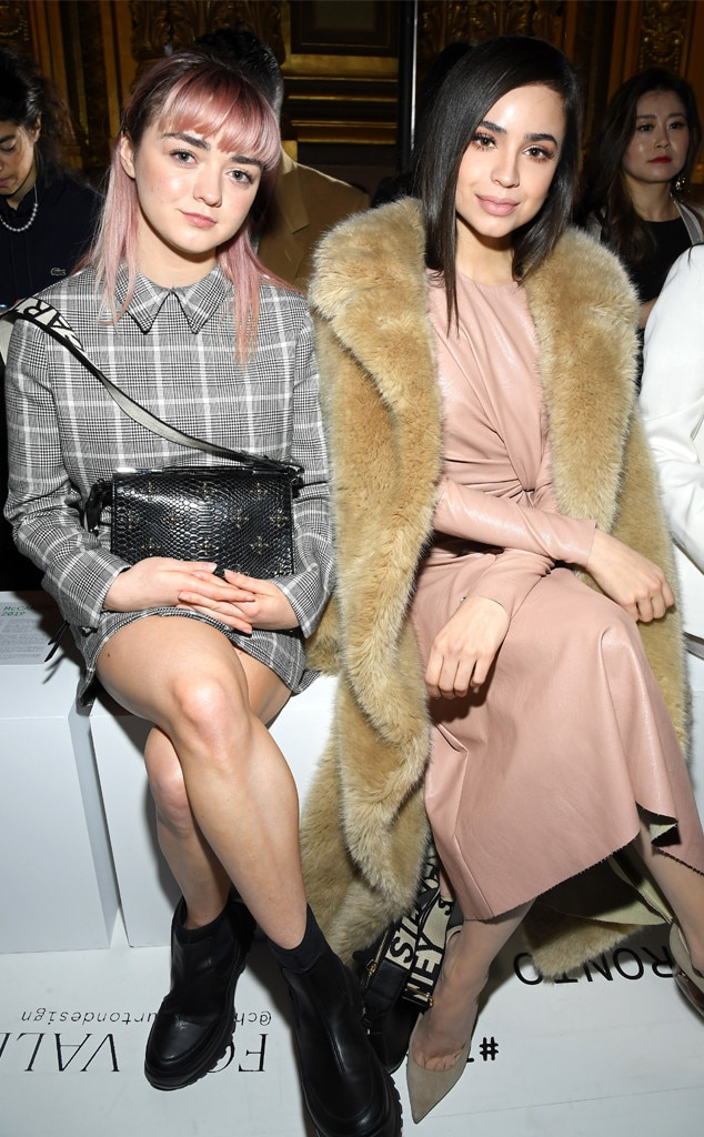 Maisie Williams & Sofia Carson -  Attended the Stella McCartney show on Mar. 4, 2019.