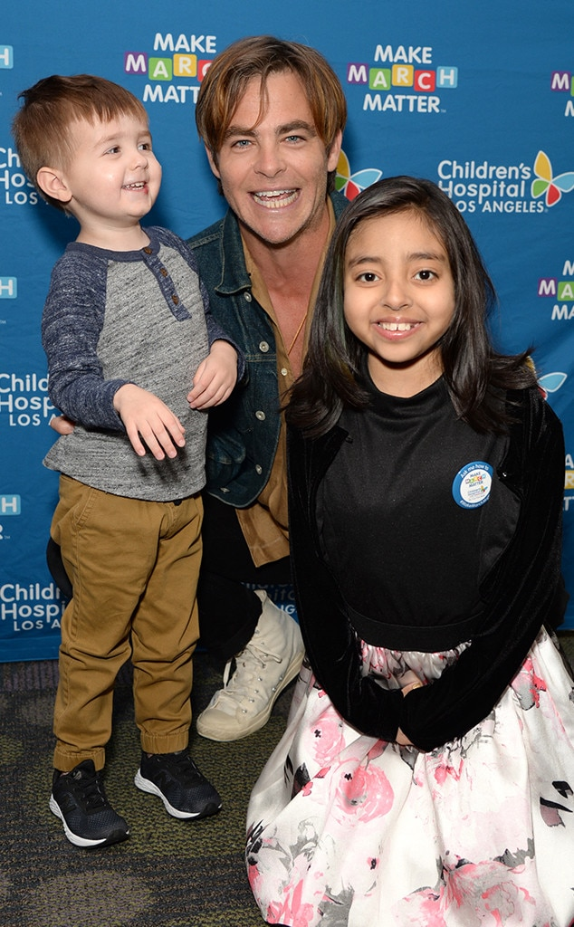 """Chris Pine -  The  I Am the Night star helps kick off Children's Hospital Los Angeles' 4th Annual Make March Matter campaign. """"There's nothing more human than caring for our children,"""" the actor shared."""