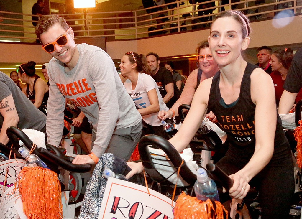 Dave Franco & Alison Brie -  The couple joinsrare cancer patients, survivors, caregivers and supportersforCycle for Survival's cancer research fundraiser atEquinox Sports Club West L.A.