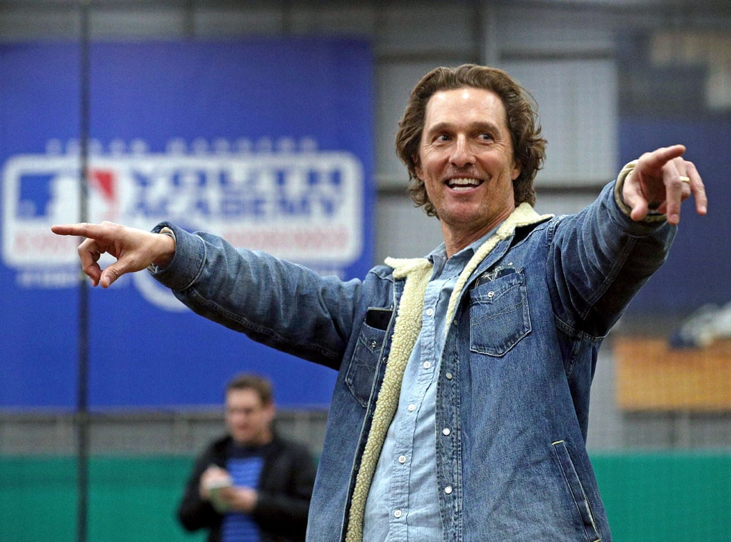 Matthew McConaughey -  Alright, alright, alright! The  Dallas Buyers Club  star speaks to students in Arlington, Texas as part of his Just Keep Livin' Foundation program.