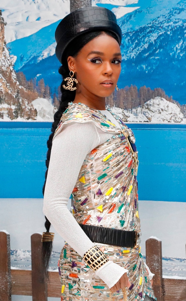 Janelle Monae -  The songstress sported a colorful ensemble accessorized with Chanel logo earrings.