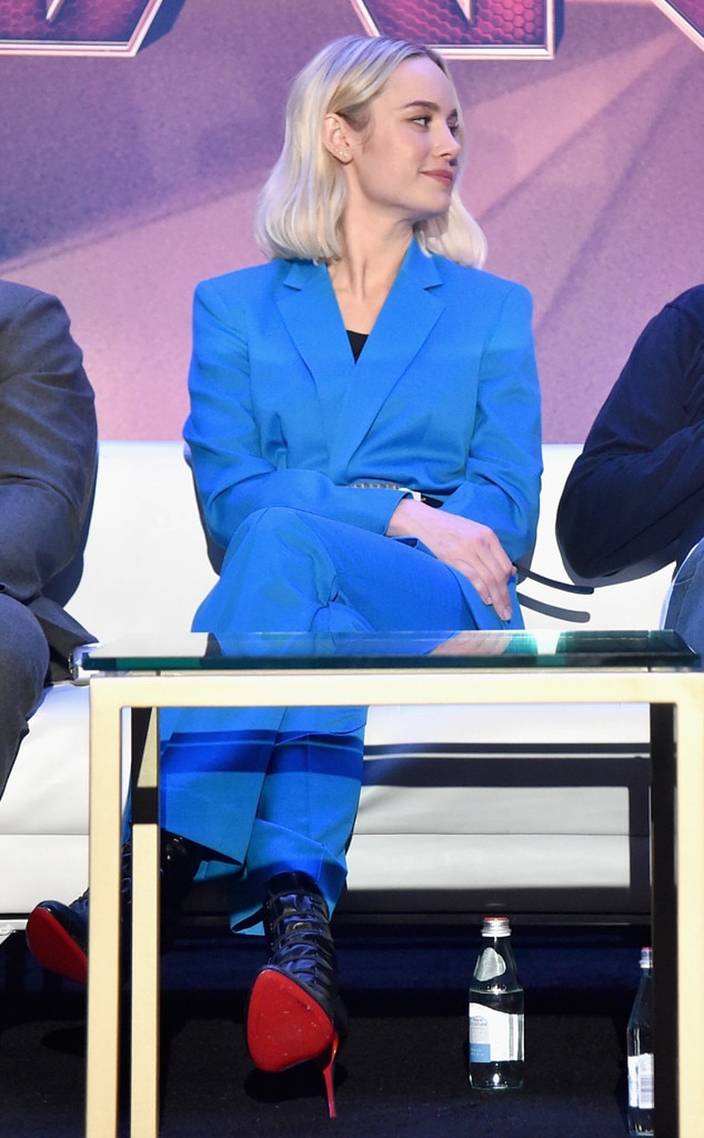 Suited Up -  The blonde beauty donned a blue pantsuit byDorothee Schumacher as she promoted her new movie in February.