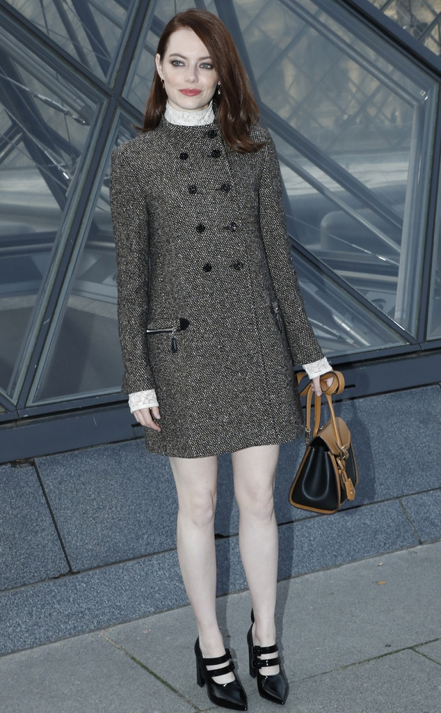 Emma Stone -  Attended the Louis Vuitton show on March 5, 2019.