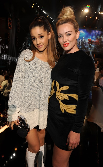 Ariana Grande, Hilary Duff, iHeartRadio Music Awards, 2014